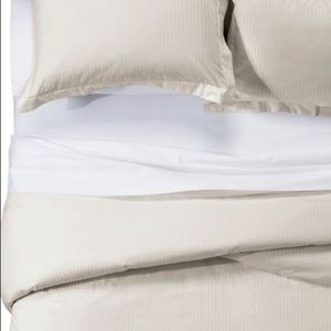 Fieldcrest Bedding - NWT Fieldcrest King Damask cotton Duvet Cover Set